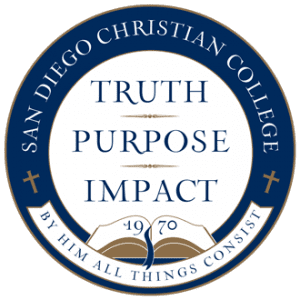 SDCC school seal Truth Purpose Impact