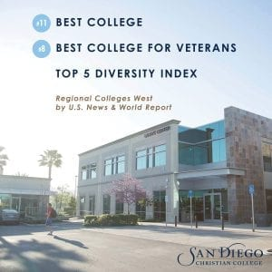 San Diego Christian College campus U.S. News World Report Best