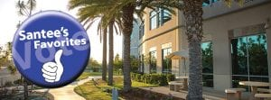Vote Santee Favorites badge over image of San Diego Christian College campus