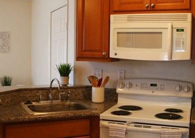 San Diego Christian College resident apartments kitchen
