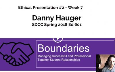 Master's Vlog #14: Boundaries and Ethics of Teacher-Student Relationships