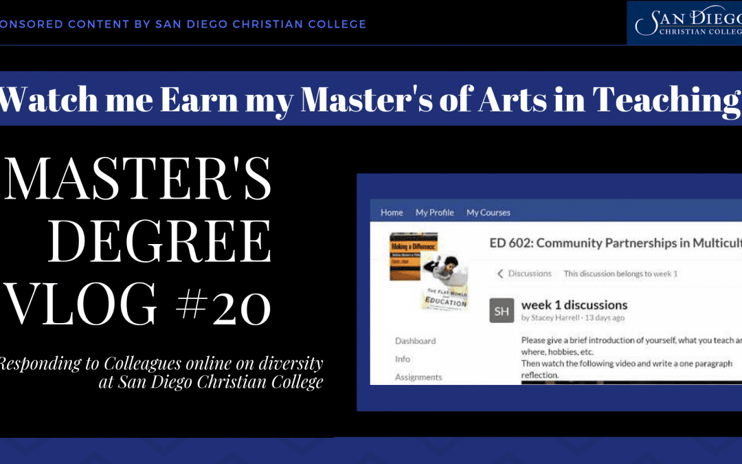 Master's Vlog #20 – Diversity and Classism Quiz and Bringing Cultural Discussions to the Classroom