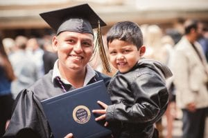 sdcc grad with child completed bachelor's master's degree